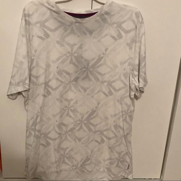 092f6bf6c6c0e2 Ted Baker WOOF T-shirt Geoprint NWT white gray sz6